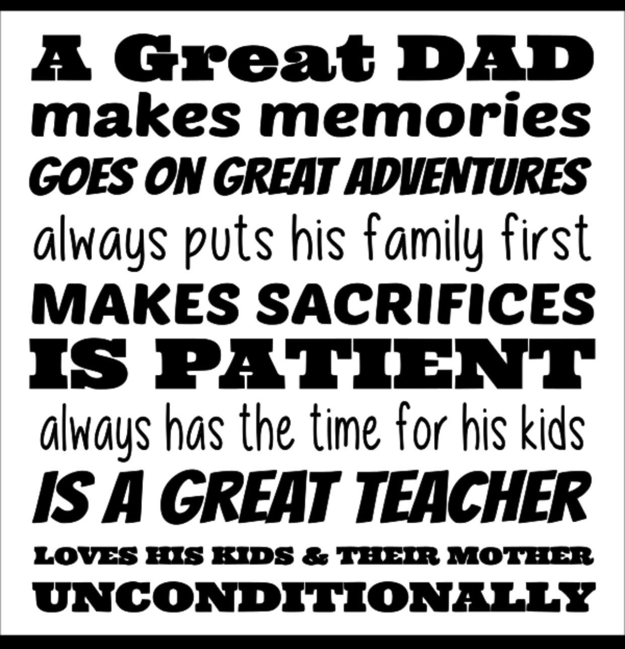 Great Dad 12x12